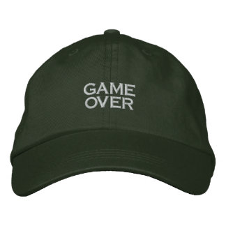 GAME OVER, PC GAME PLAYER CAP EMBROIDERED HATS