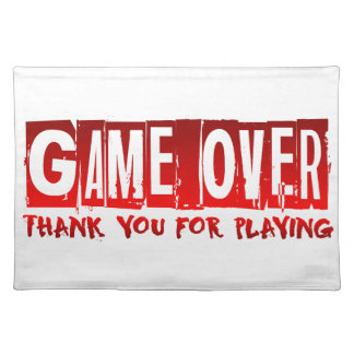Game over place mat