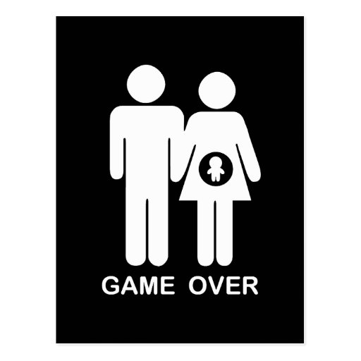 Game Over Post Cards