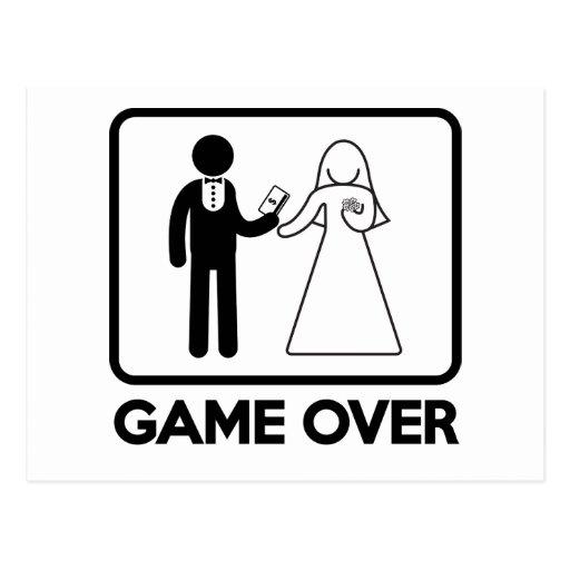 Game Over Postcard