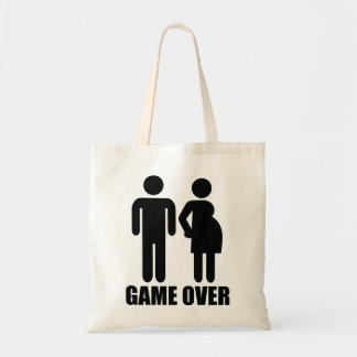 Game over Pregnancy Canvas Bag