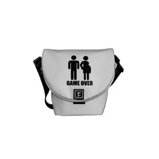 Game over Pregnancy Courier Bag