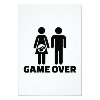 Game over pregnant baby personalized announcement card