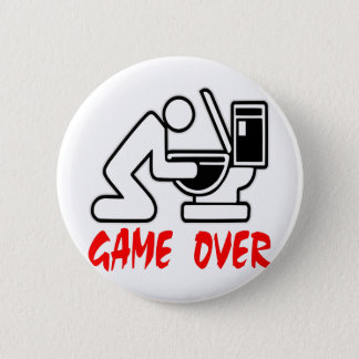 Game Over Puking 6 Cm Round Badge