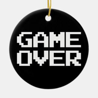 Game Over Round Ceramic Decoration