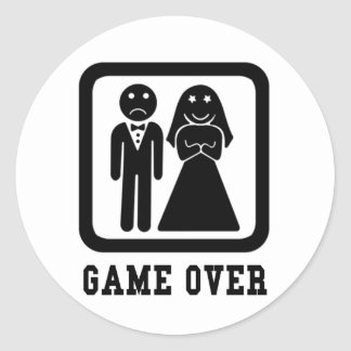 Game Over Round Sticker
