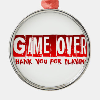 Game over Silver-Colored round decoration