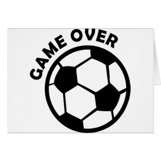 game over soccer ball card