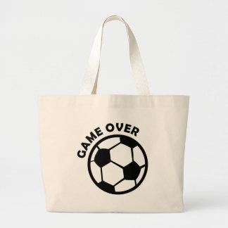 game over soccer ball jumbo tote bag