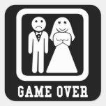 Game Over Square Sticker