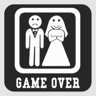 Game Over Square Sticker