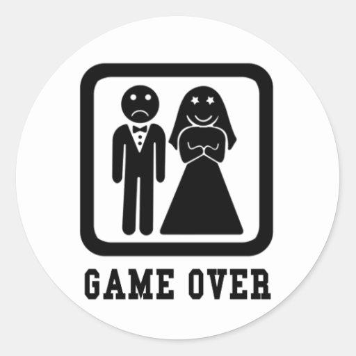 Game Over Round Sticker