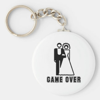 GAME OVER T-shirt Basic Round Button Key Ring