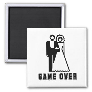 GAME OVER T-shirt Square Magnet