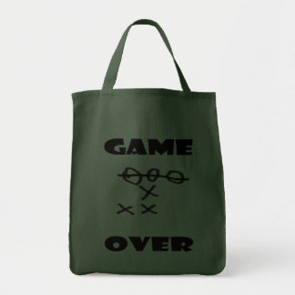 GAME OVER GROCERY TOTE BAG