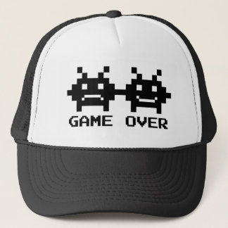GAME OVER trucker hats for bachelor party groom