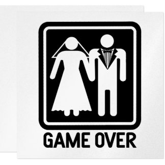 Game Over Wedding 13 Cm X 13 Cm Square Invitation Card
