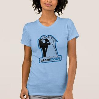 Game Over Wedding Bride & Groom TShirt (blue)