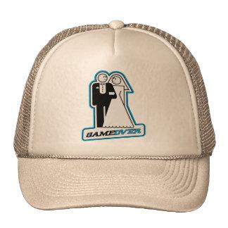 Game Over Wedding Bride & Groom TShirt (blue) Trucker Hat