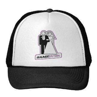 Game Over Wedding Bride & Groom TShirt (light pink Mesh Hats