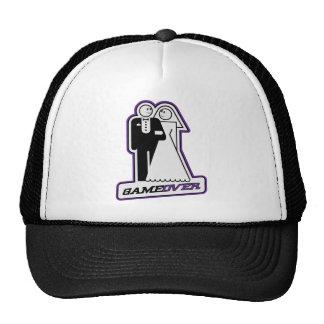 Game Over Wedding Bride & Groom TShirt (purple) Hat