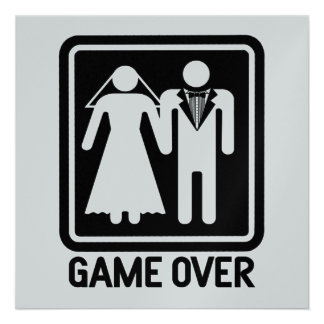 Game Over Wedding Custom Invite