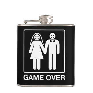 Game Over Wedding Flask