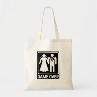 """""""GAME OVER"""" WEDDING HUMOR TOTE"""