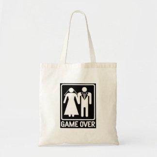 """GAME OVER"" WEDDING HUMOR TOTE BUDGET TOTE BAG"