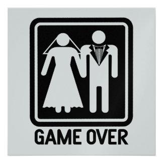 Game Over Wedding Custom Invitations