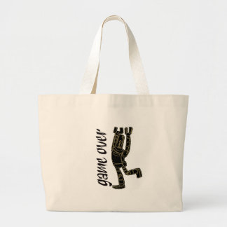 game over white tote bag
