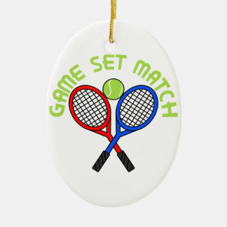 Game Set Match Christmas Ornament