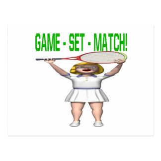 Game Set Match Postcard