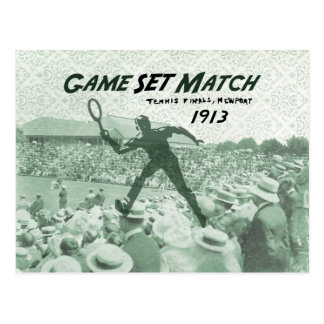 Game Set Match: Vintage Tennis poster Postcard