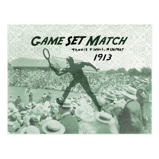 Game Set Match: Vintage Tennis poster Post Card