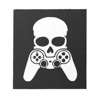 Game skull notepad