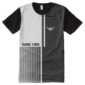 Game Time All-Over Printed Panel T-Shirt All-Over Print T-Shirt