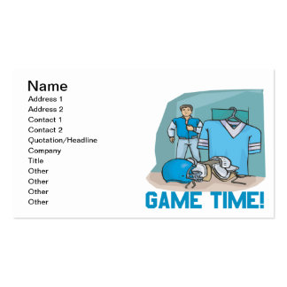 Game Time Pack Of Standard Business Cards