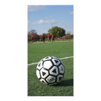 Game Time Perspective - Soccer / Futbol Personalized Photo Card