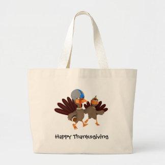 Game Time Thanksgiving Turkey Football Tote Bag