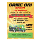 Game Truck Party Invitations