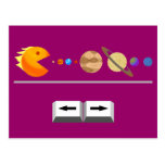 Game with planets funny Custom  Postcard