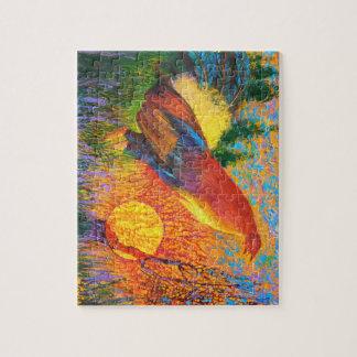 Gamecock at sunrise - Wild animal Puzzle