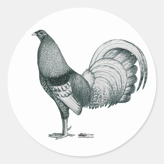 Gamecock Crele or Dom Classic Round Sticker