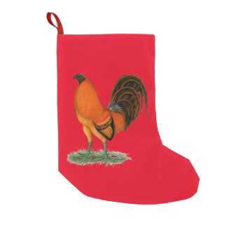 Gamecock Ginger Red Rooster Small Christmas Stocking