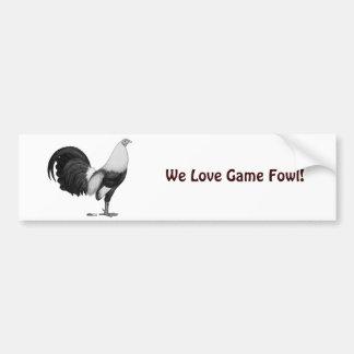 Gamecock Grey Duckwing Bumper Sticker
