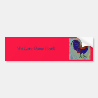 Gamecock:  Impressionist Rooster Car Bumper Sticker