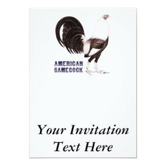 Gamecock Sepia 13 Cm X 18 Cm Invitation Card