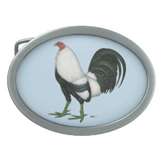 Gamecock Silver Duckwing Belt Buckle