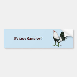 Gamecock Silver Duckwing Bumper Sticker